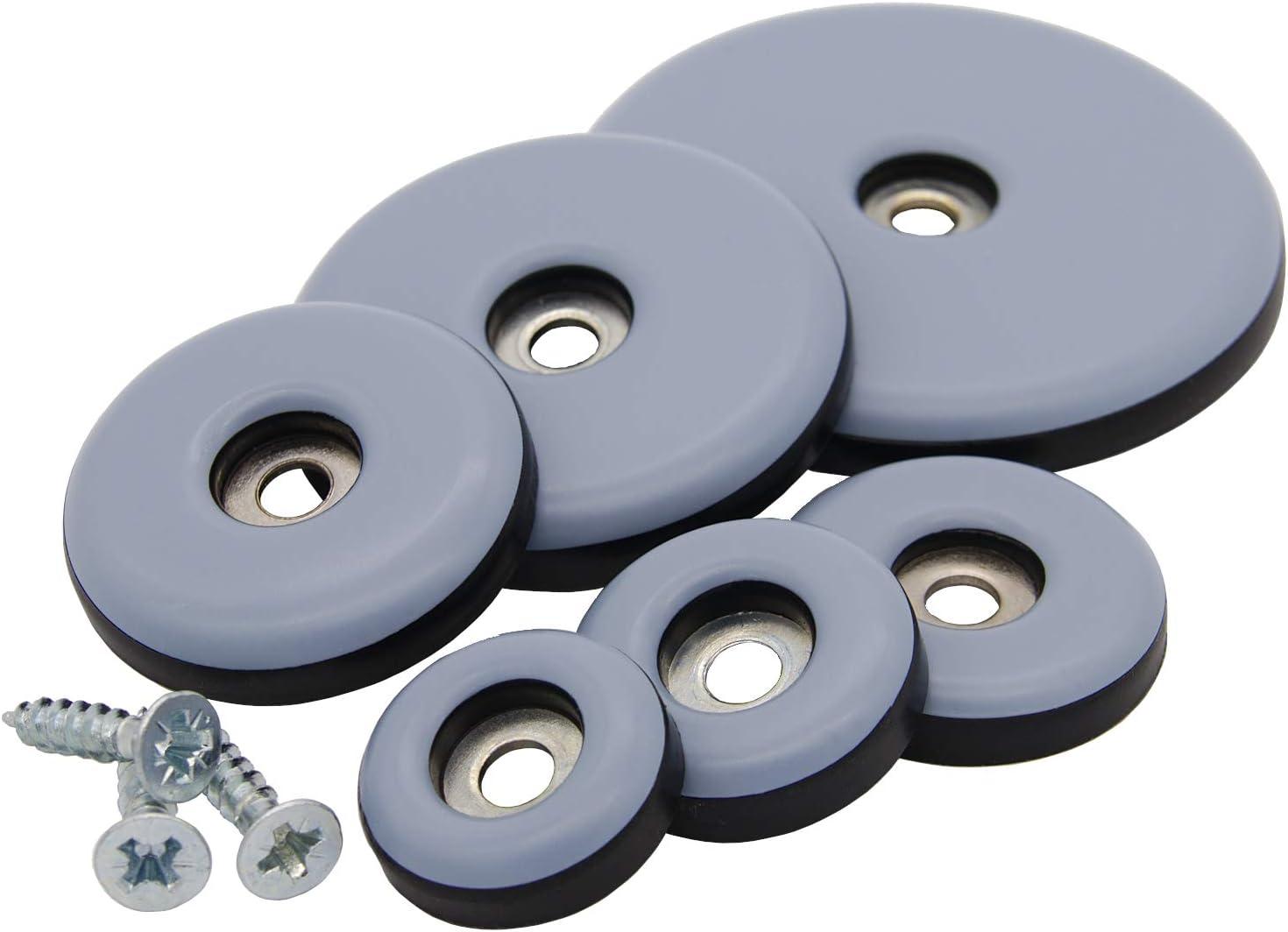 48 Stück Teflongleiter Ø 38 mm mit Schraube rund PTFE-Gleiter Möbelgleiter