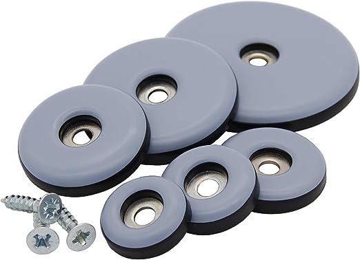 Teflongleiter selbstklebend 30 mm PTFE Möbelgleiter 16 Stück Klebegleiter rund
