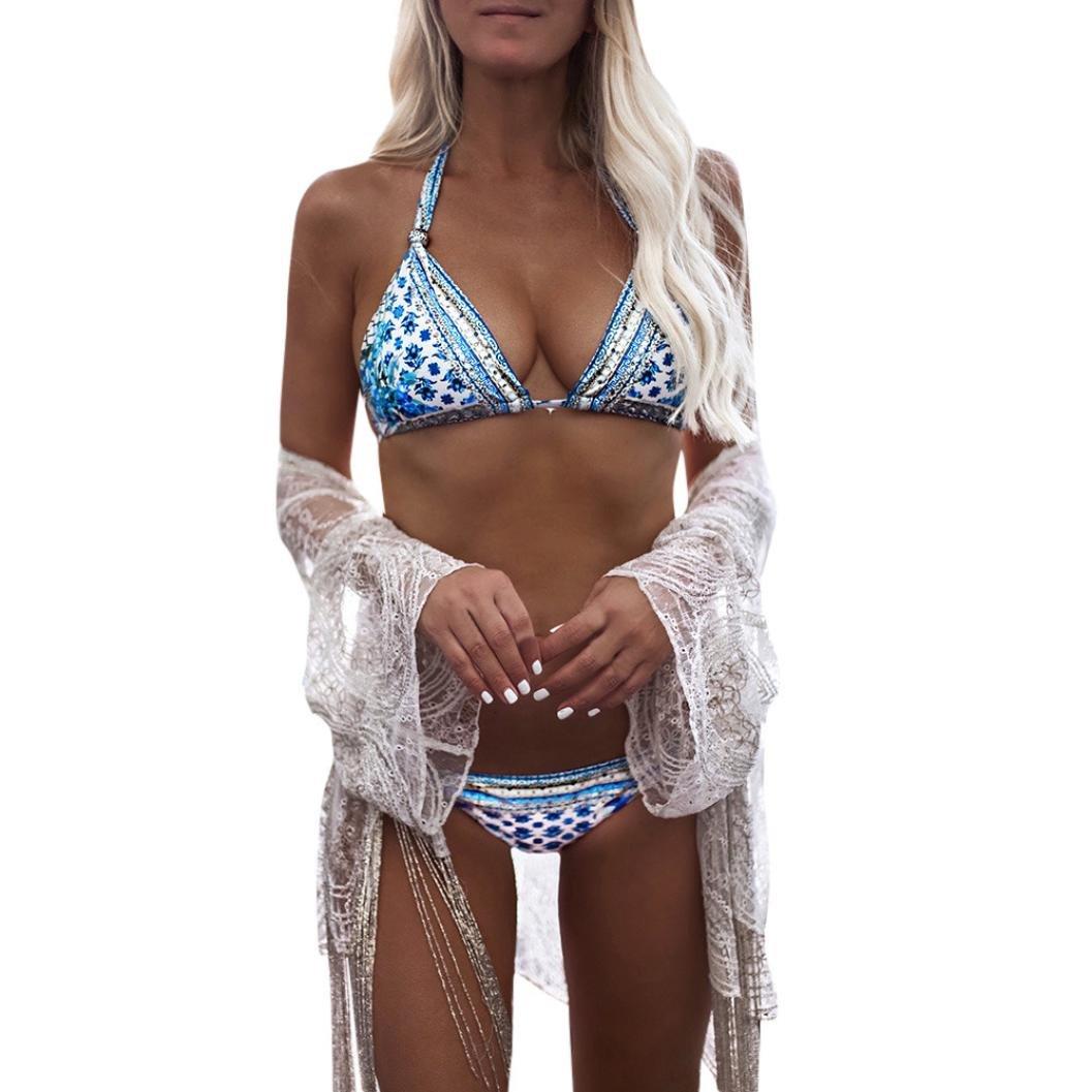 Landfox Traje de baño de Las Mujeres Bikini Set Vendaje Push-Up Acolchado Traje de baño baño Ropa de Playa, Mujer Push-up Bikini Acolchado Bra Trajes de ...
