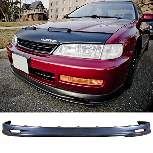 Front Bumper Lip Fits 1996-1997 HONDA ACCORD 4CYL | PP Front Lip Spoiler Splitter Air Dam Chin Diffuser Add On by IKON MOTORSPORTS