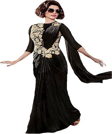 Amazon Com Priyanka Chopra Launch Collection Indian Gown Saree