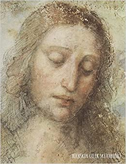 sketchbook leonardo da vinci the head of christ 85 x 11 inches 200 blank pages with borders