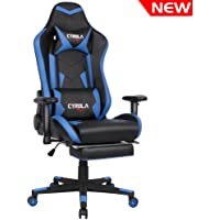 comfortable gaming chair. Perfect Comfortable Cyrola Large Size Real PU Leather High Back Comfortable Gaming Chair With  Footrest PC Racing To