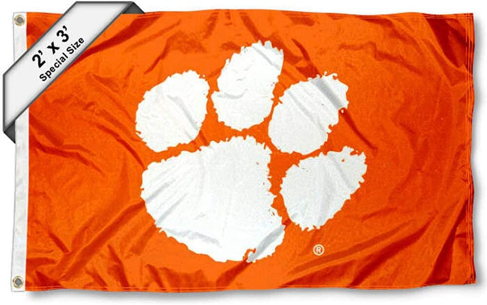 Clemson Tigers Jersey Stripes Flag College Flags /& Banners Co