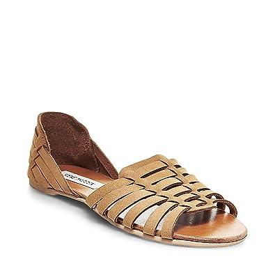 39b3d430310 Steve Madden Womens Felisite Open Toe Huarache Sandals Tan 11 Medium ...