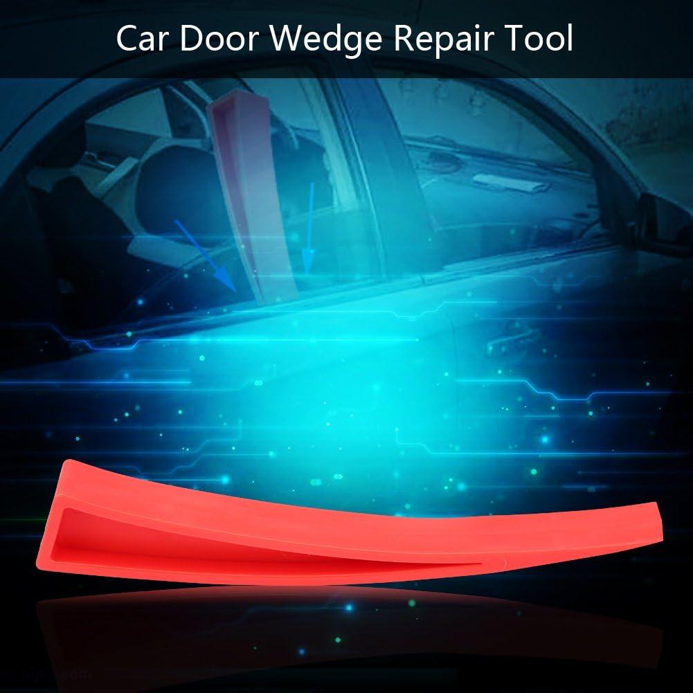 Terisass Door Wedge Repair Tool Nylon Car Door Window Wedge Panel Paintless Dent Removal Repair Tool Red Universal