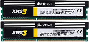 Corsair Memory 8 Dual Channel Kit DDR3 2000 (PC3 16000) 240-Pin DDR3 Sdram CMX8GX3M2A1600C9