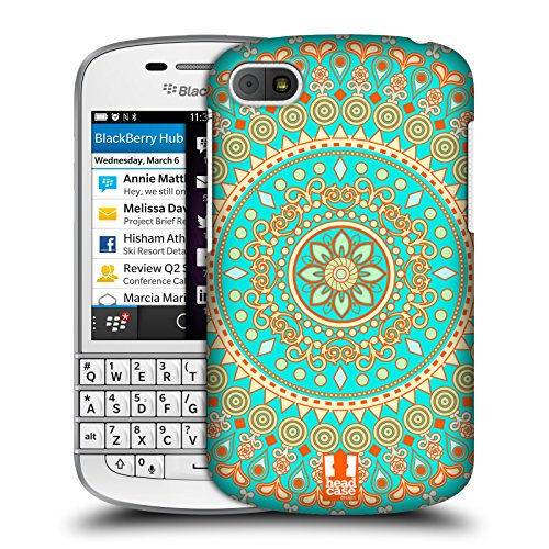 Head Case Designs Turquoise Dream Mandala Protective Snap-on Hard Back Case Cover for BlackBerry Q10