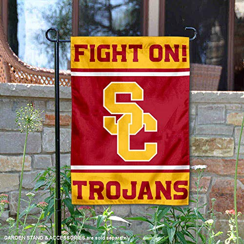 (College Flags and Banners Co. USC Trojans Fight On Garden Flag )