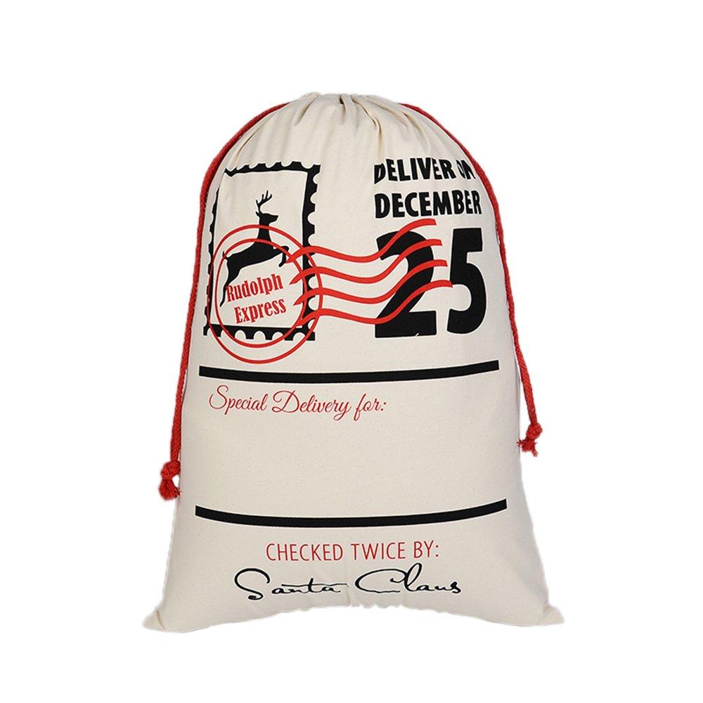 新しいブランド Aspire卸売業クリスマスジャイアントキャンバス巾着袋再利用可能な食料品の買い物袋ギフトストレージ - - Stamp PCS - 60 Stamp PCS B0714DPQYJ, 田中海苔店:e6f6c433 --- 4x4.lt