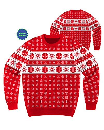 Marvel Deadpool Flakes Ugly Sweater Christmas Sweatshirt