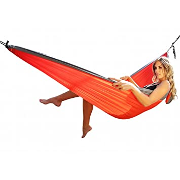 ultimate hammocks scout camping hammock   lightweight portable parachute nylon backpacking travel beach red charcoal amazon    ultimate hammocks scout camping hammock   lightweight      rh   amazon