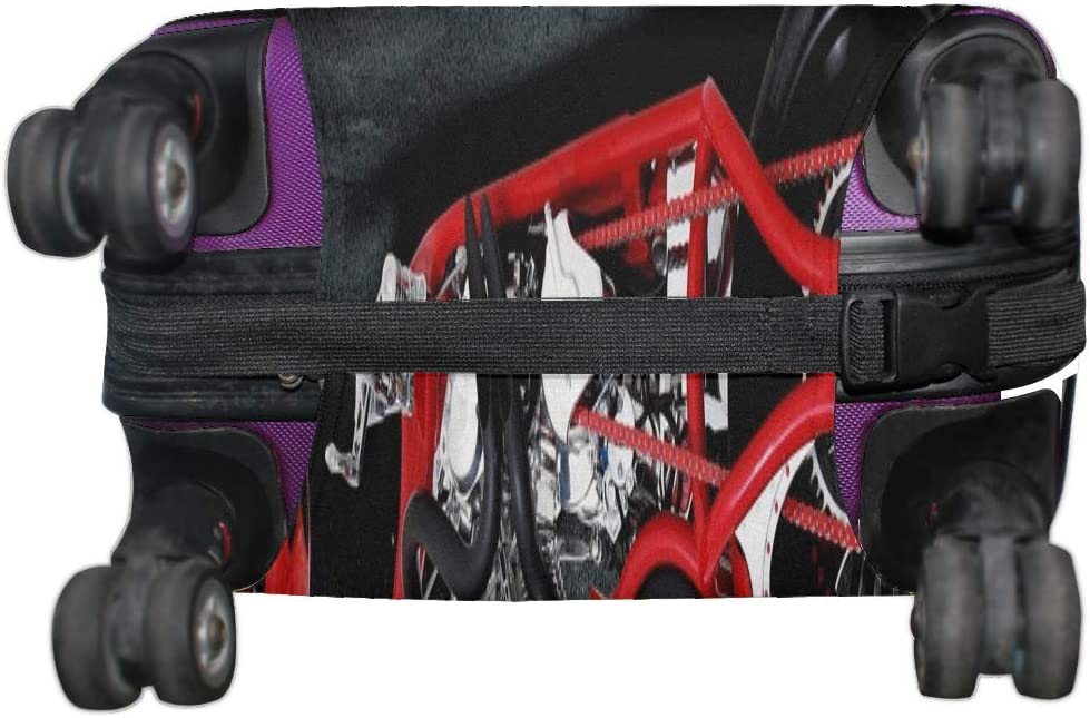 Bike Custom Motorcycle Pattern Print Travel Luggage Protector Baggage Suitcase Cover Fits 18-21 Inch Luggage