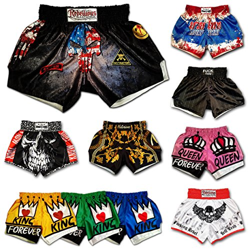 Muay Thai Shorts Kickboxing Martial Arts Combat Fight MMA UFC Boxer Boxing Trunks