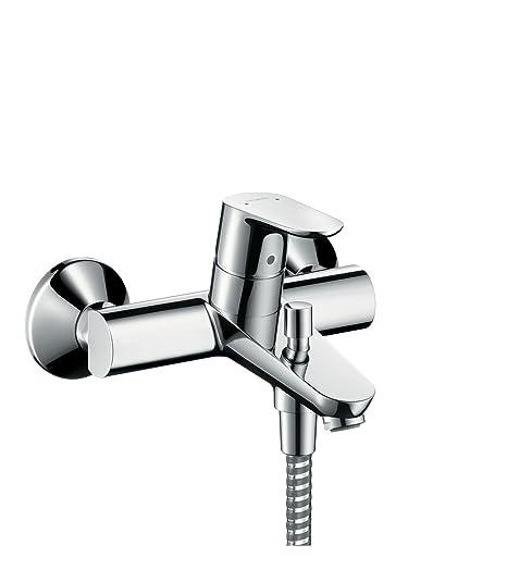 hansgrohe Focus bath and shower mixer, chrome: Amazon.co.uk: DIY & Tools
