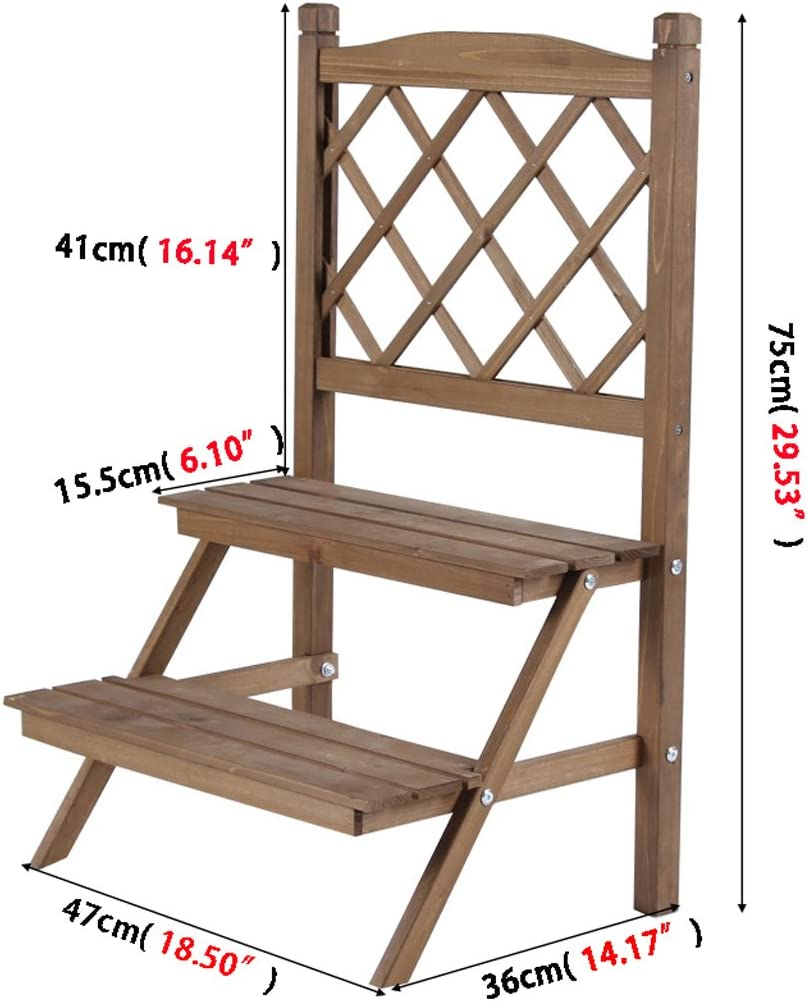 XXGI Simple Living Room Small Flower Stand Simple Doble De Madera ...