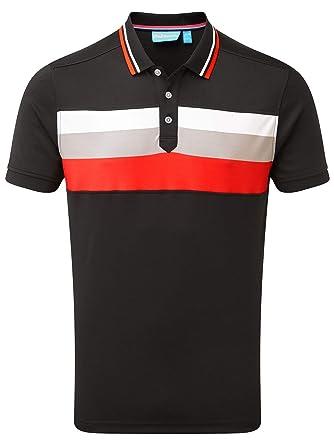 f54e7279 Amazon.com: Bunker Mentality Golf Cmax Triple Stripe Tech Mens Golf ...