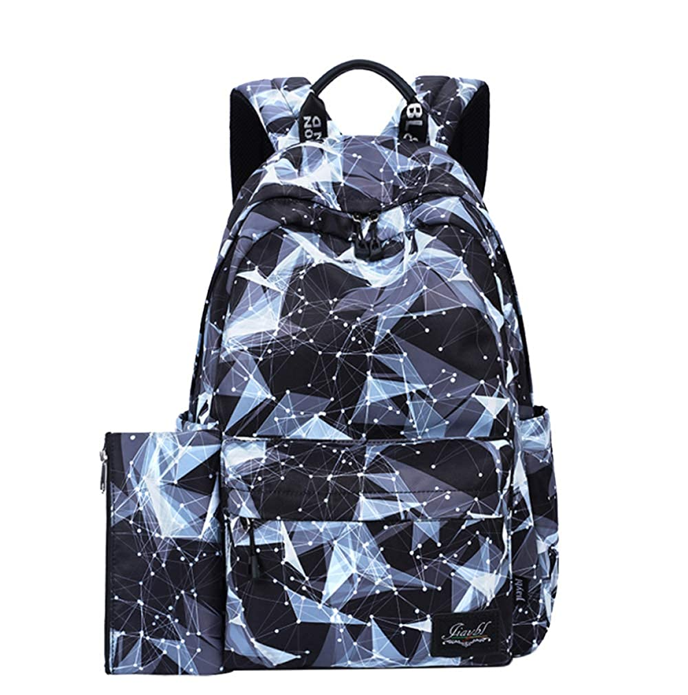 Starry One Size FLHT, Girl Youth Bags Travel Backpack University Campus Middle School Students Lightweight Waterproof Large Capacity Picnic Backpack