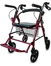 Mobiclinic Andador para Ancianos y Silla de Ruedas | 2 en 1 | Frenos en manetas