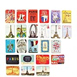 Refrigerator magnets set of 24 Paris Eiffel Tower souvenirs magnetic fridge magnet home decoration accessories arts paste crafts