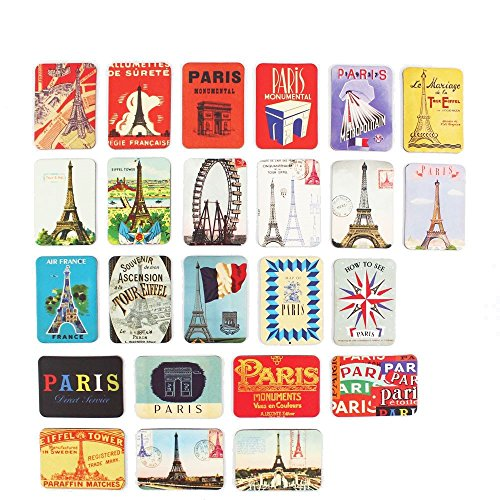 - Refrigerator magnets set of 24 Paris Eiffel Tower souvenirs magnetic fridge magnet home decoration accessories arts paste crafts