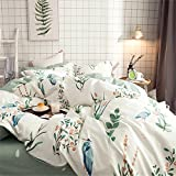 kele Cotton four-piece, Cotton bedding package Pastoral Small fresh Long-staple cotton Sheets Quilt cover-C Queen1