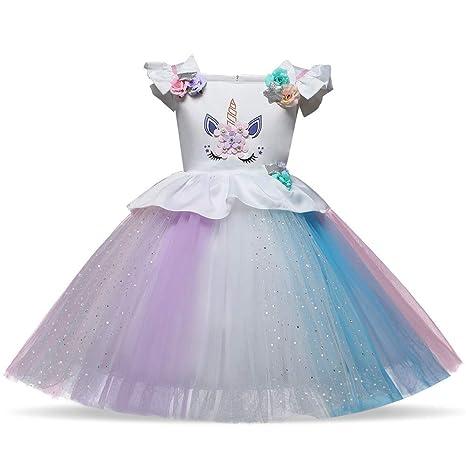 Vestido de fiesta para niñas, Flower Girls Princess Dress Up ...