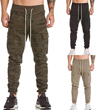 Youth Casual Training Sweatpants Peace Sign Creative Lettering Adjustable Waist Pants with Pocket