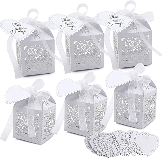 IVORY WEDDING FAVOURS PARTY GIFT BOX BALLOON WEIGHT BOX FAVOUR FROM UNDER 29P