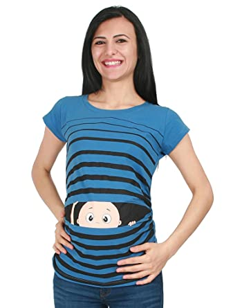 Guck Guck Schwangerschaft Geschenk Witzige süße Umstandsmode T-Shirt mit Motiv