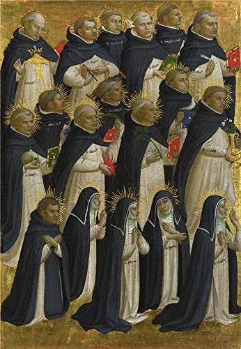 Oil Painting 'Fra Angelico - The Dominican Blessed,about 1423-4' 12 x 17 inch / 30 x 44 cm , on High Definition HD canvas prints is for Gifts And Garage, (All Star Motors Halloween)