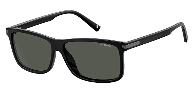 POLAROID SUNGLASSES PLD 2075 807 M9 BLACK POLARIZED LENSES ...