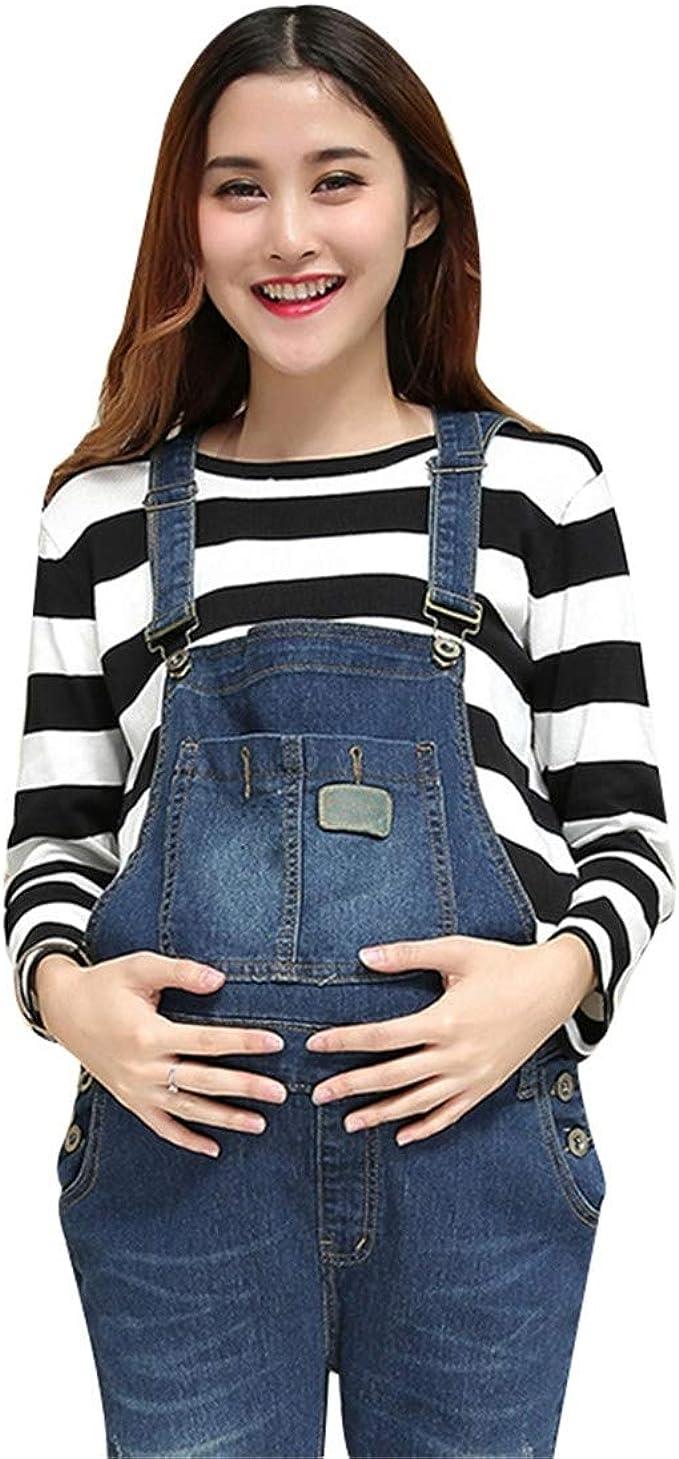 Pinji Embarazo Pantalones Ropa de Maternidad Mujer Peto Babero Monos Trajes de Abajo Correa Ajustar El/ástico Invierno Oto/ño Primavera Casual Baggy