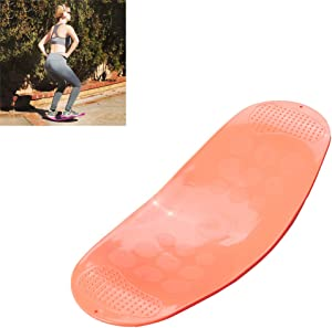 LTLGHY 60CM Board Fitness Board for Adults – The Abs Legs Core Workout Balancing Board Fit Board for Stability Training, Twisting Exercise, Abs Arms Legs Balance,Orange
