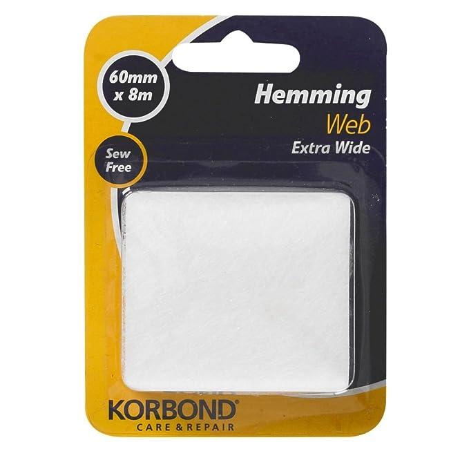 FREE P/&P Korbond 60 mm x 8 m Extra-Wide Hemming Web