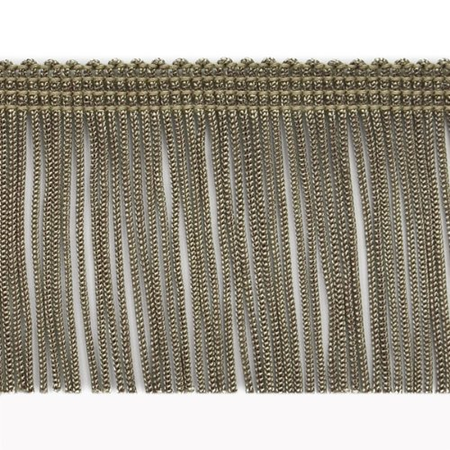 Taupe 4-Inch Expo International 20-Yard Chainette Fringe Trim