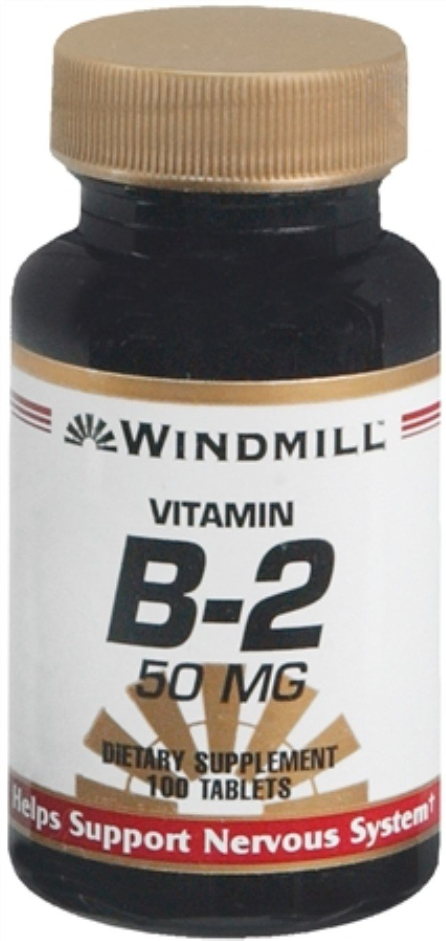 Windmill Vitamin B-2 50 mg Tablets 100 Tablets (Pack of 8)