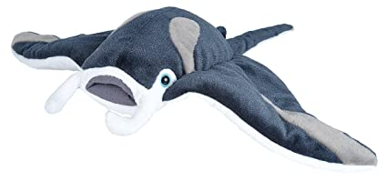 Wild Republic Manta Ray Plush, Stuffed Animal, Plush Toy, Gifts for Kids,