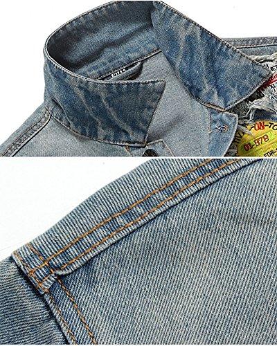 ZongSen Giacca di Jeans Ripped Denim Jacket Casual Giacchetta Uomo Denim  Blu S  Amazon.it  Sport e tempo libero 2ce802a24b0