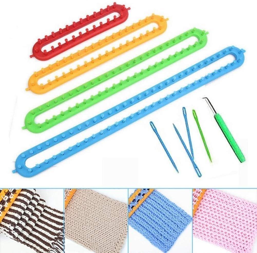 BlueRCKing Weaving Loom Knitting Knitter Kit Plastic Long Weaving Tool for Sock Hat Scarf Scarves DIY L