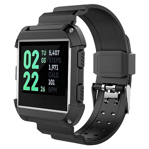 GreatFun Smart Watch Sports Silicone Replacement Correa de muñeca ...