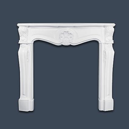 Chimenea decorativa Orac Decor H100 LUXXUS Conjunto completo DecChimenea decorativa Oración de estuco blanco para pared