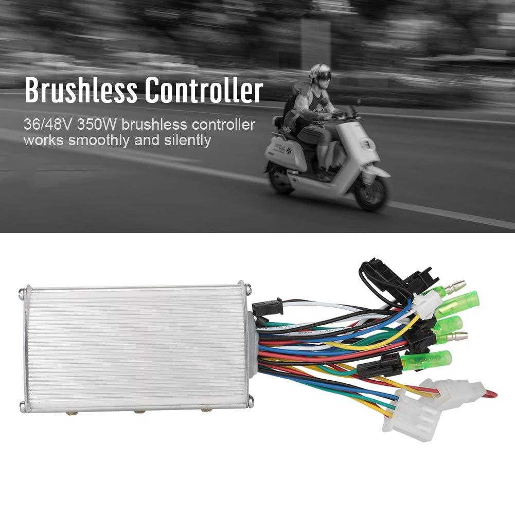 48 V 250 Watt Motor Brushless Controller Aluminium Sinus Controller Elektrische Fahrrad Brushless Motor Controller F/ür E-Bike /& Roller 36 V Color : Silber