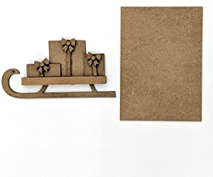 Foundations Décor, Welcome Sign Self Adhesive Magnets, DIY Home Decorations, Craft Kit - Sled with Presents