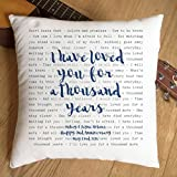 Just Print! Christina Perri, Twilight Soundtrack, A Thousand Years, Typography Design Song Lyrics Inspired Gift – Pillow Cushion Cover – Ideal Cotton 2nd Anniversary Review