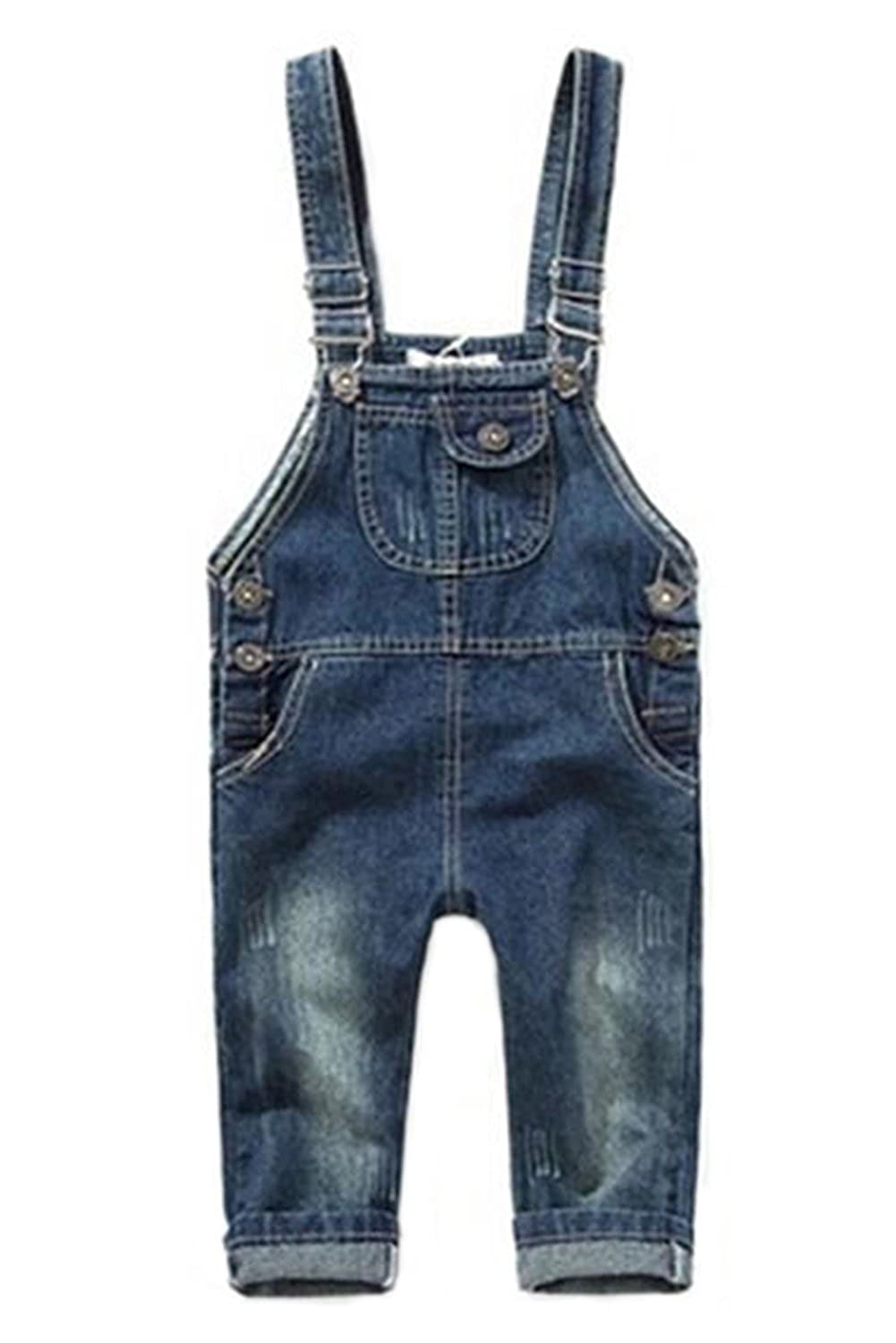 ZHUANNIAN Baby Dungarees Toddler Boys Girls Denim Romper Jumpsuits Trousers Bib Overall
