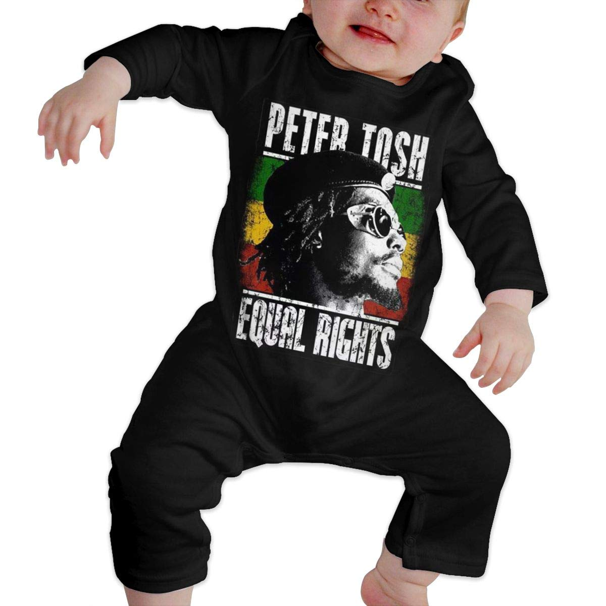 Kids Baby Long Sleeve Romper Peter-Tosh-Logo Unisex Cotton Cute Jumpsuit Baby Crawler Clothes