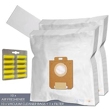 SET - Ambientadores + Filtro + 10 Bolsas de aspiradora Para AEG-Electrolux UltraSilencer Green