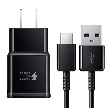 Adaptive Fast Charger for Galaxy S8, S8+, S9, S9+, S10+, Note 8, Note 9 USB-C 3.1 Type-C Cable Kit Fast Charging USB Wall Charger AC Home Power ...