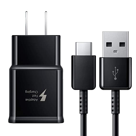 Samsung Galaxy S8, S8+, S9, S9+, S10+, Note 8, Note 9 Adaptive Fast Charger USB-C 3.1 Type-C Cable Kit Fast Charging USB Wall Charger AC Home Power ...